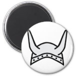 icono del casco de vikingo imán de nevera