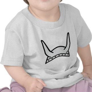 icono del casco de vikingo camisetas