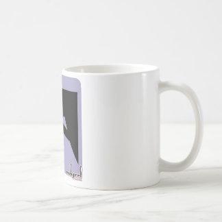 Icono del chica que sube - en violeta taza