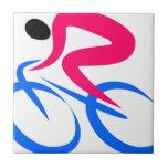 Icono del ciclista teja