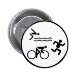 icono del círculo del triathlon pin