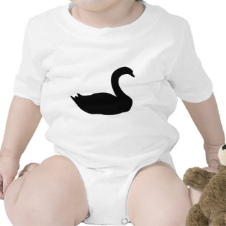 icono del cisne negro traje de bebé
