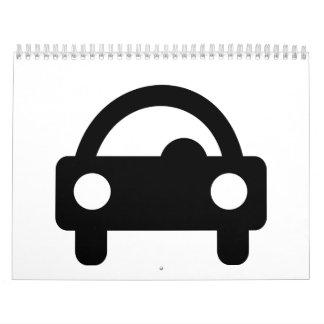Icono del coche calendario de pared