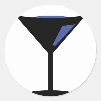 icono del cóctel del fiesta pegatinas redondas