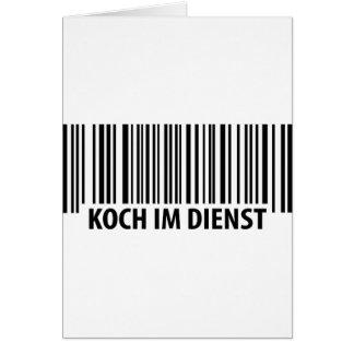 Icono del código de barras de Koch im Dienst Tarjeta De Felicitación