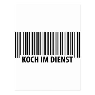 Icono del código de barras de Koch im Dienst Tarjetas Postales