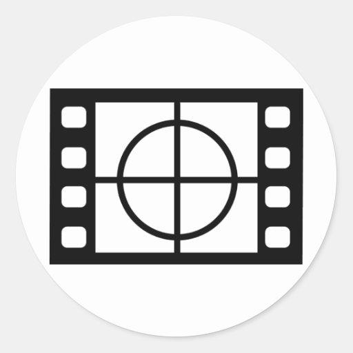 icono del comienzo de la película pegatina redonda
