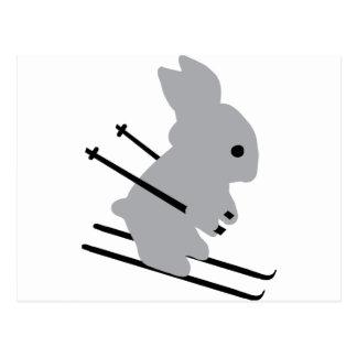 icono del conejito del esquí tarjetas postales