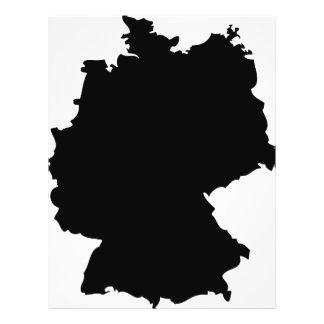 icono del contorno de Alemania Flyer A Todo Color