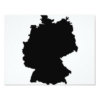 """icono del contorno de Alemania Invitación 4.25"""" X 5.5"""""""