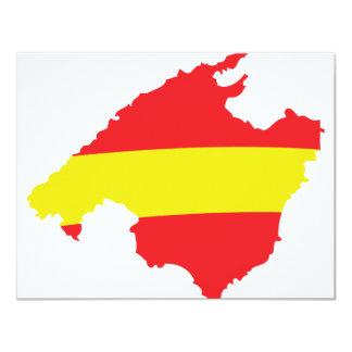 """icono del contorno de la bandera del malle invitación 4.25"""" x 5.5"""""""