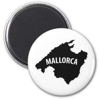 icono del contorno de Mallorca España Imán Redondo 5 Cm
