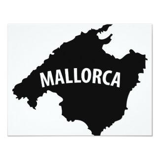 """icono del contorno de Mallorca España Invitación 4.25"""" X 5.5"""""""