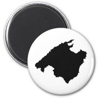 icono del contorno de Mallorca Imán Redondo 5 Cm