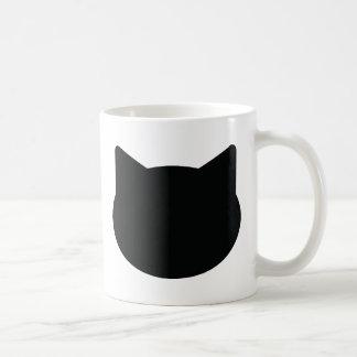 icono del contorno del gato tazas de café