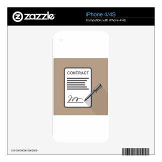 Icono del contrato calcomanía para iPhone 4