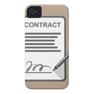 Icono del contrato iPhone 4 carcasa