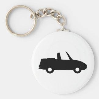 icono del convertible del negro 5,0 llavero redondo tipo pin