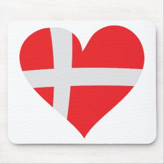 Icono del corazón de Dinamarca Mousepads