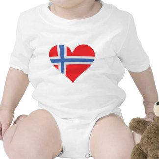 icono del corazón de Noruega Trajes De Bebé