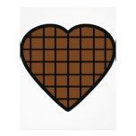 icono del corazón del chocolate membretes personalizados