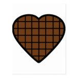 icono del corazón del chocolate tarjeta postal