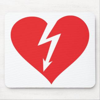 icono del corazón del relámpago alfombrilla de ratones