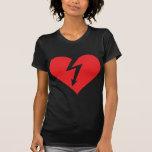 icono del corazón del relámpago camiseta