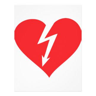 icono del corazón del relámpago flyer personalizado