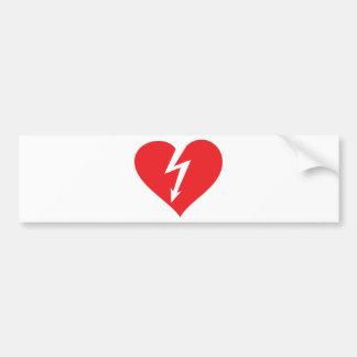 icono del corazón del relámpago pegatina para auto
