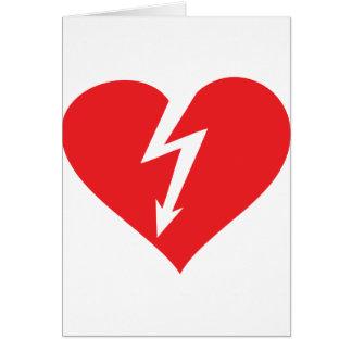 icono del corazón del relámpago tarjeta de felicitación