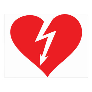 icono del corazón del relámpago tarjetas postales