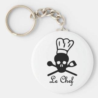 icono del cráneo de le chef llaveros personalizados