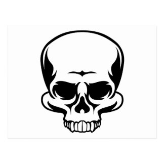 Icono del cráneo postales