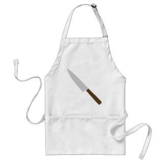 icono del cuchillo de cocina de los cocineros delantal