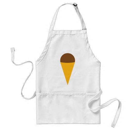 icono del cucurucho del helado delantal