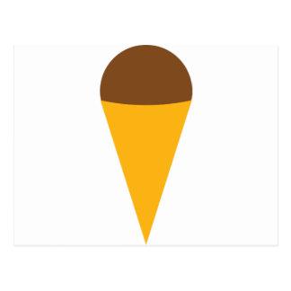 icono del cucurucho del helado postal