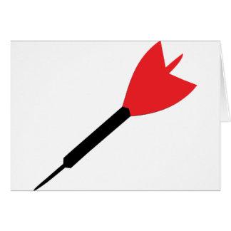 icono del dardo tarjeta