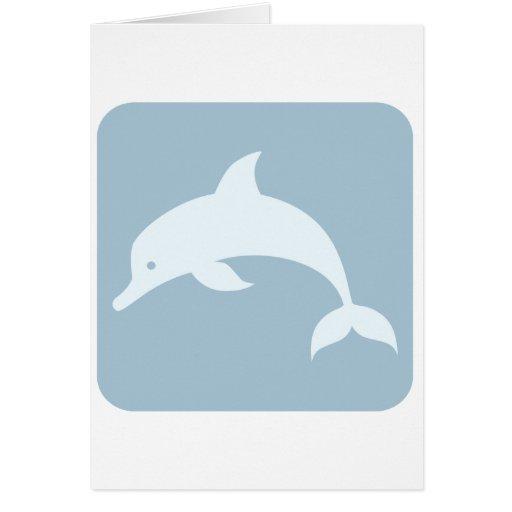 Icono del delfín de Bottlenose Tarjeta De Felicitación