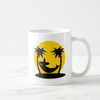 icono del día de fiesta de la puesta del sol de la taza de café