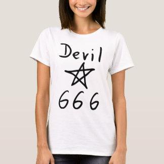 icono del diablo 666 playera