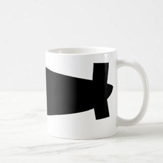 icono del dirigible del zepelín taza de café