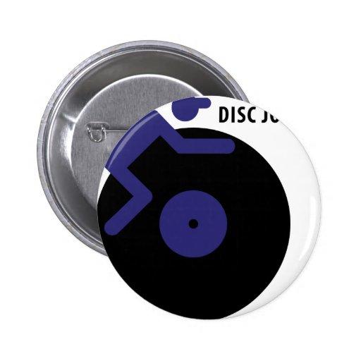 icono del disc jockey pin