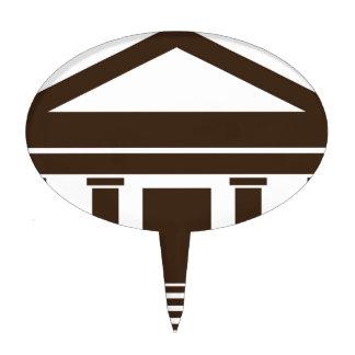 Icono del edificio del gobierno del banco del figuras para tartas