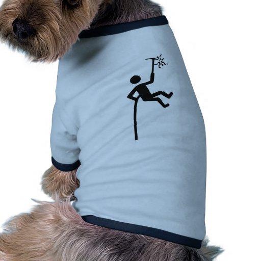 icono del escalador de montaña camiseta con mangas para perro