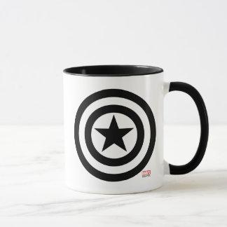 Icono del escudo de capitán América Taza
