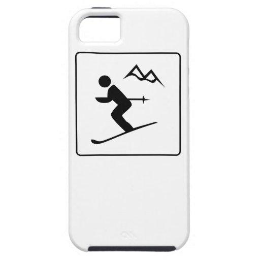 Icono del esquí iPhone 5 cobertura