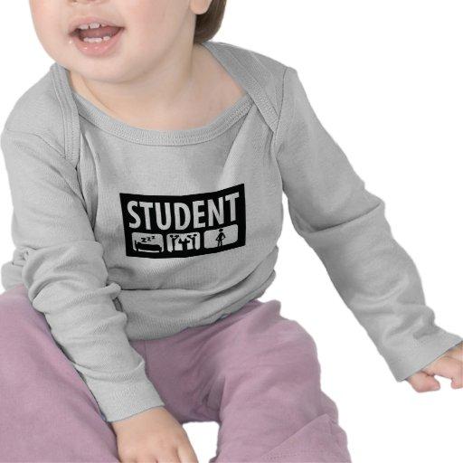 icono del estudiante camisetas