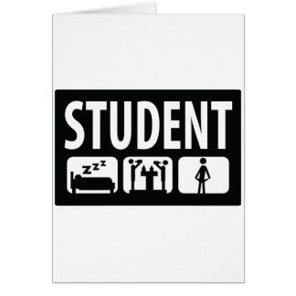 icono del estudiante tarjeta de felicitación