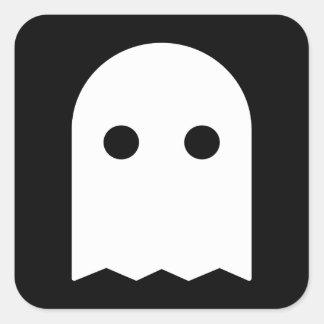 Icono del fantasma pegatina cuadrada